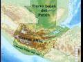Mapa en relieve de Guatemala