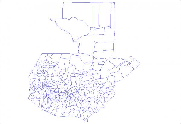 Mapa de Guatemala y sus municipios