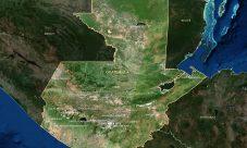 Mapa satelital de Guatemala